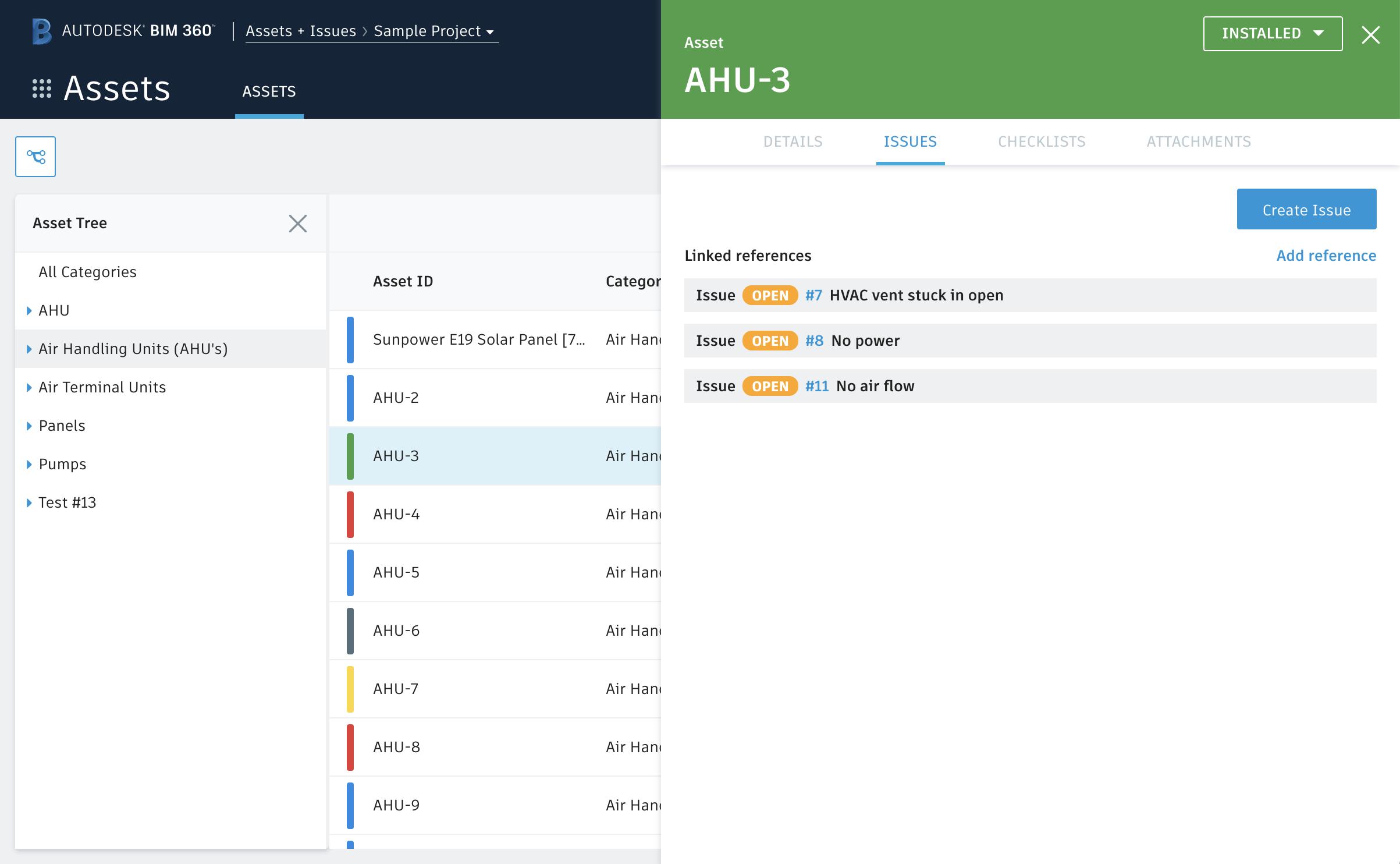 Workflows de gestion sur site intégrés